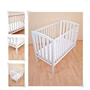 Tobie Compact Mini / Space Saver Cot in White : INCLUDES 10cm Thick High Density Foam (CMHR28) Spacesaver Cot Mattress : Perfect for Small Rooms Changing Table ●Size and Safe and Stable- 82×58×97cm/ 32×23×38 inch,Suitable for babies weighing less than 25kg,With seat belt,Changing pad has a restraining strap for added safety and is made of easy to clean, soft ●2-in-1 design- Baby changing table can be used as baby massaging table as well. It is designed at the proper height of parent to prevent mom's back aches and pains from kneeling or bending when changing diapers to babies. ●Premium materials - Using high-quality materials for our 2 in 1 infant changing table,Reinforced wood,it is durable and stable for long time daily use,And easy to clean and maintain. 8