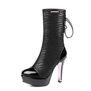 Wuyulunbi @ Femmes Chaussures Automne Et Hiver Mode Bottes Bottes Plate-forme Tête Ronde Avec Un Plaid Informel Parti Noi12 / Eu44 / Uk10 / Cn46