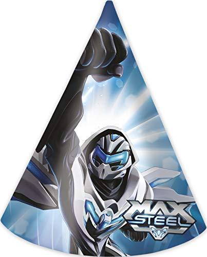 Generique - 6 Partyhüte Max Steel
