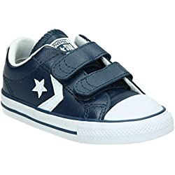 b18c3e02 Converse Lifestyle Star Plyr 2V Ox, Zapatillas Infantil, Azul (Navy/White  412