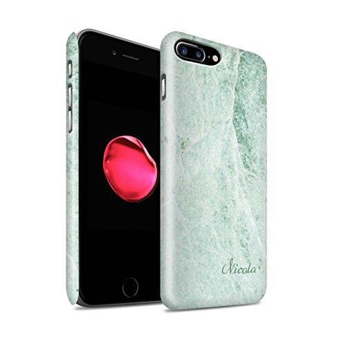 Personalisiert Personalisiert Marmor Matte Hülle für Apple iPhone SE / Perle Weißen Stempel Design / Initiale/Name/Text Snap-On Schutzhülle/Case/Etui Hellgrüne Unterschrift