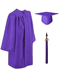 GraduatePro Graduacion Toga Infantil y Birrete Niño Niña Sombrero de Estudiante Set Primaria Regalos 12 Colores