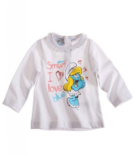 Schlümpfe Langarmshirt Sweatshirt für Babys u. Kleinkinder 3 Motive  LAWS67779 Weiß
