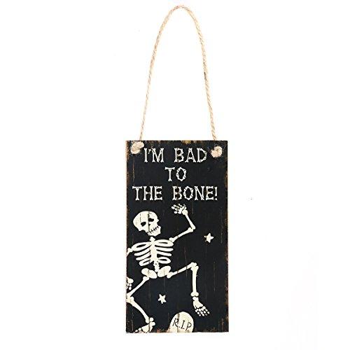 (healifty Halloween Aufhängen Tür Dekorationen und Wand Schilder, Haunted House Decor, für Zuhause, Schule, Büro, Party Dekorationen)