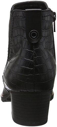 Jana 25316, Bottes Chelsea Femme Noir (Black/Snake 017)
