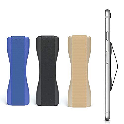 LARRY SHELL 3PCS Phone Grip Smartphone Finger Holder selbstklebend - Mobile Grip Holder Einhandbedienung für E-Reader und kleine Tablets