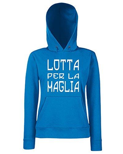 T-Shirtshock - Sweats a capuche Femme TUM0068 lotta per la maglia Bleu Royal