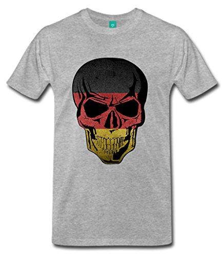 """Biker T-Shirt Orginal USA Motiv """"Deutschland"""" Fun Rat Motorrad Grau"""