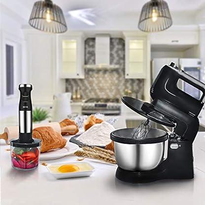 Deeya-3in1-handrhrgert-mit-rhrschssel-fr-den-Gebrauch-im-Privathaushalt-hand-mixer-Mischen-Kneten-Schneebesen-und-mehr-incl-35-liter-Edelstahl-Schssel-Kunststoffklinge-schwarz