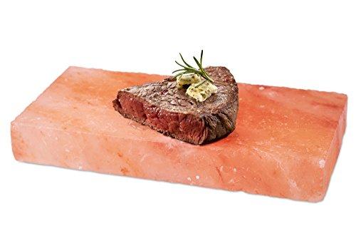 41KVl72kbYL - Gourmet Grill Salzstein - Himalaya* Salz- 20 x 10 x 2,5 cm von Salz Einkaufsparadies (aus der Salt Range Pakistan)