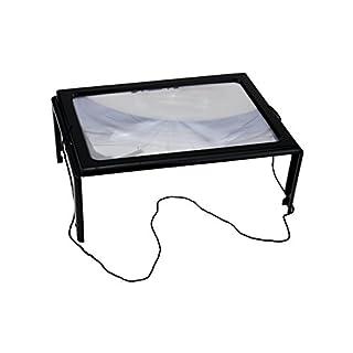A4 Leselupe 29 x 20 x 11cm Groß Lupe mit LED Beleuchtung Lesehilfe Handlupe Vergrößerungglas Senioren von Smartweb
