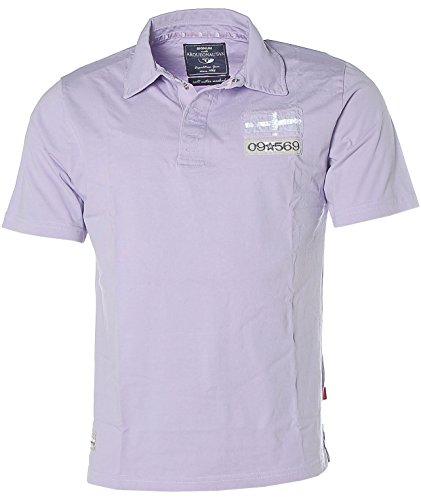 Signum Herren Kurzarm Poloshirt Shirt -ARQ- Flieder