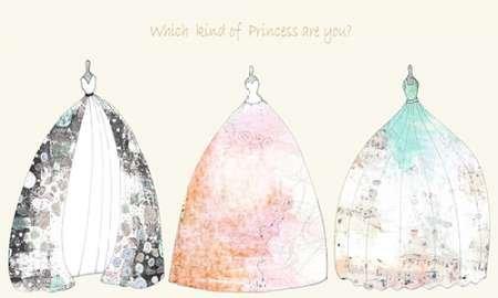Qui type de Princesse sont vous par ogren, Sarah–Fine Art Print Disponible sur papier et toile, Toile, SMALL (39 x 23.5 Inches )