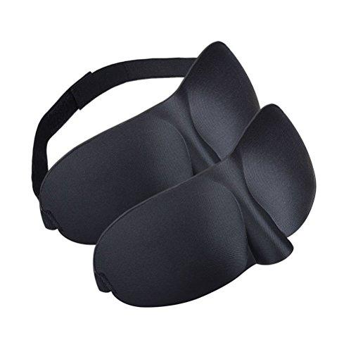 Foto de BlueBeach® Paquete de 2 Viajar Antifaces para dormir / 3D Antifaces para los ojos / Perfecto Máscara de noche Diseño contorneado para un sueño extra cómodo Viajes y uso doméstico