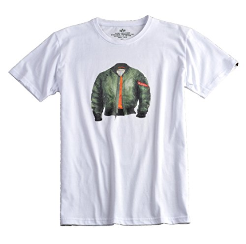 Alpha Industries - MA-1 T-Shirt Weiß
