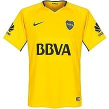Mens Breathe Boca Juniors Jersey TOUR YELLOW/BRAVE BLUE 17/18 Boca Jr Nike