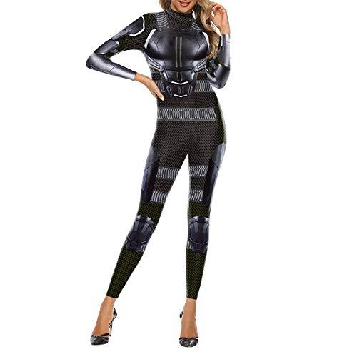 QQWE X-Men Dark Phoenix Cosplay Kostüm Frauen Männer Kostüm Kleidung Weihnachten Halloween Show Superheld Body Overalls,Black-XXL