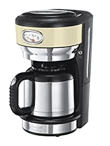 Russell Hobbs 21712 - 56 Drip Coffee Maker 1L 8 cups black, gold, Stainless Steel - Coffee ...