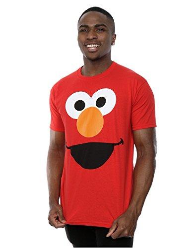 sesame-street-uomo-elmo-face-maglietta-small-rosso