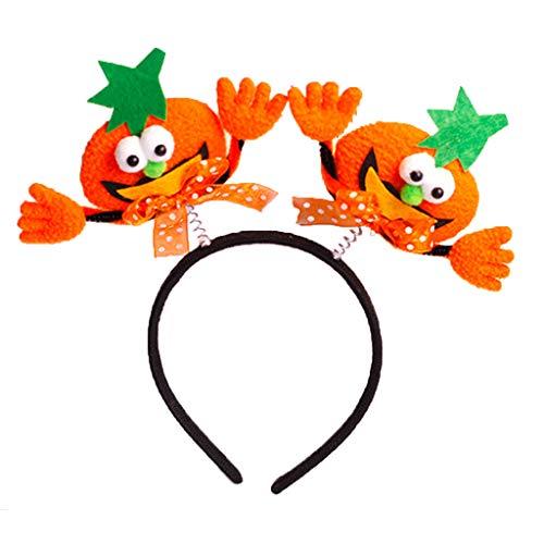 Manyo Frauen Mädchen Halloween Haarband Frühling Kürbis Bat Lustige Party Kostüm Stirnband (2)