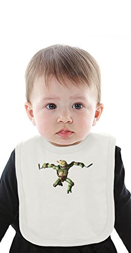 Tmnt michelangelo Organic Baby Bib With Ties Medium