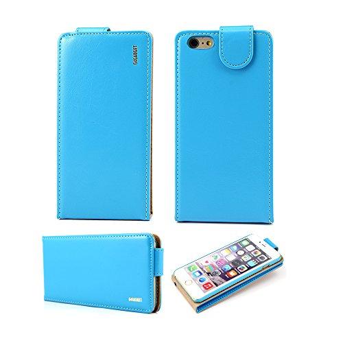 Meilleur prime Iphone 6 plus (5,5 pouces) Light Blue cuir flip Housse avec deux emplacement de carte pour Apple Iphone 6 plus (5,5 pouces)