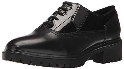 Geox D Peaceful H, Scarpe Stringate Basse Oxford Donna, Schwarz (BLACKC9999), 40 EU