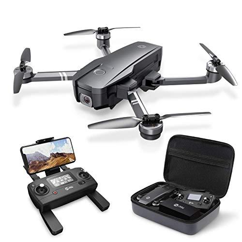 Holy Stone HS720 Faltbare GPS Drohne mit 2K Kamera Full-HD Live Übertragung,RC Quadcopter mit bürstenloser Motor,26 Min. Lange Flugzeit,Follow Me,5G WLAN FPV,Handy gesteuert inkl. Koffer für Anfänger