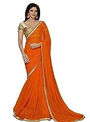 Airson Fab Orange Designer Saree