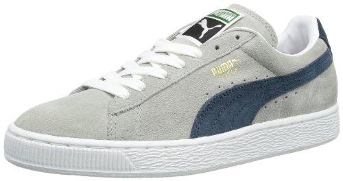 Puma Suede Classic+ , Baskets Basses Mixte Adulte Gris (Limestone Grey/Navy)