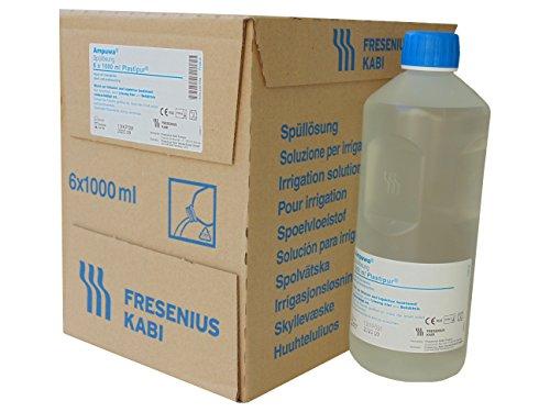 1000ml Steril (Ampuwa 6x1000ml Plastipur Aqua steriles, pyrogenfreies Wasser Fresenius)