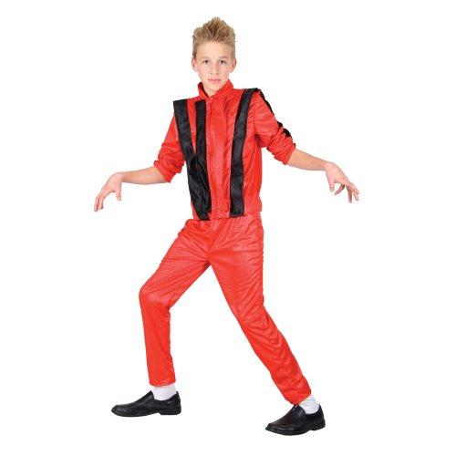 Michael Jackson King of Pop Verkleidung Halloween Kostüm für Jungs 11-12 Jahre
