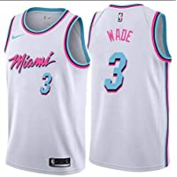 canottejerseyNBA Dwayne Wade Miami Heat  3 Bianco City Edition Basket  18 ea0bb704c881