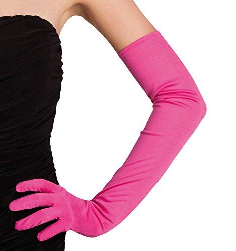 Boland 03103 - Handschuhe Los Angeles, Einheitsgröe, pink (Halloween-kostüm Pink Flamingo)