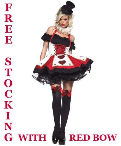 Forever Young - Damen Herzkönigin-Kostüm - Alice im Wunderland - Größe 34