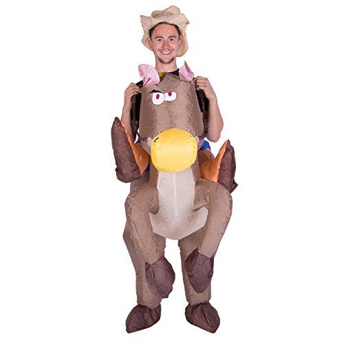 Imagen de hinchable vaquero en caballo adulto disfraz alternativa