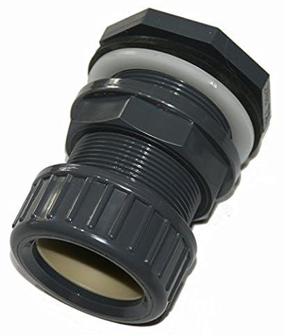 Traverseée de paroi en PVC pour tuyau Diamètre 50 mm branchement rapide par serrage - jardiboutique