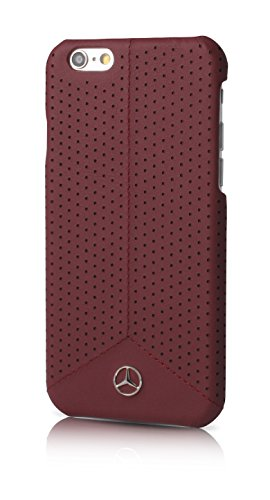 FACEPLATE MERCEDES PURE LINE COMPATIBILE CON IPHONE 6 6S PERFORATED RED -