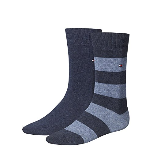 TOMMY HILFIGER Herren Rugby Socken 8er Pack, Größe:39-42;Farbe:jeans