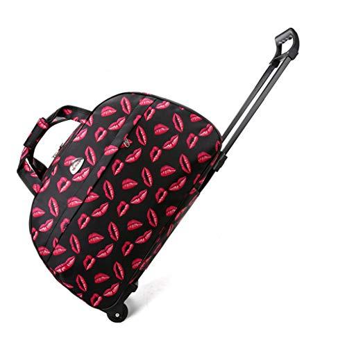 Lifet Reisetasche Mit 2 Rollen, Canvas Trolley Tasche Sporttasche Trolley Tasche Koffer