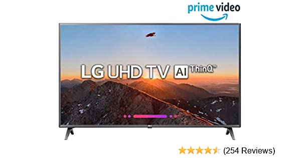 LG 108 cm (43 Inches) 4K UHD LED Smart TV 43UK6360PTE (Black) (2018 model)
