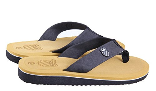 Minetom Herren Mode Zehentrenner Flats Flip Flops Sommer Strand Pantoffeln Badeschuhe Gelb