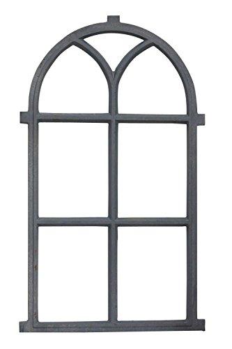 Stallfenster Fenster Scheunenfenster Eisen grau 54 x 98cm Antik-Stil