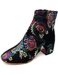 es 100 Flores Eur Para Mujer Zapatos Botas 50 Amazon Udq1twxFF