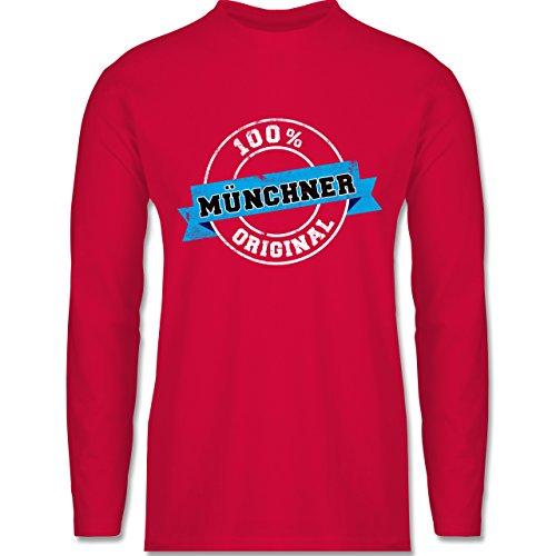 Shirtracer Städte - Münchner Original - Herren Langarmshirt Rot