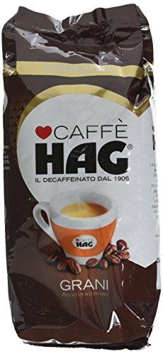 Hag Miscela di Caffè Torrefatto Decaffeinato in Grani - Pacco da 10 x 500 g