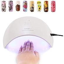 Lámpara de Uñas UV 36W, CompraFun Lámpara UV y LED Secador Profesional de Uñas,