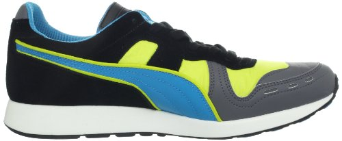 PUMA RS100 LL Lace-Up Fashion Sneaker,Giallo/Steel/Hawaiian/Nero,10.5 US/12 D US (Fluro Yellow)