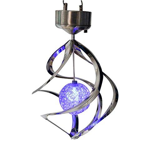 Zantac LED-Lampe, im Freien hängendes Windspiel-Licht fürs Haus, Garten, Solarenergie-Lichter, Windspinner, Beleuchtungs-Dekoration (Outdoor-lampe Im Stil Freien)