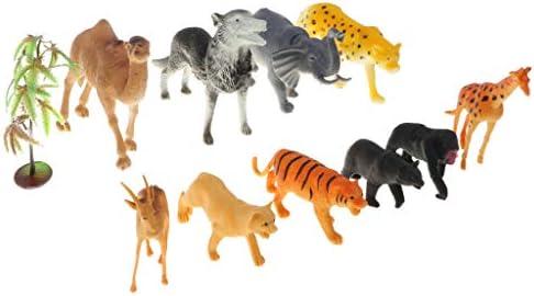 Homyl 10 Pièces en Plastique Zoo Animal Modèle Modèle Modèle  s Jouet Éducatif Parti Sac Remplisseuses   2019  2e66b4